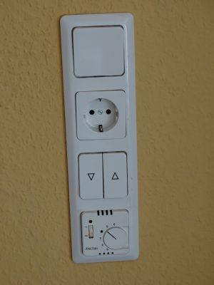 Elektrische Jalousiensteuerung und Fußbodenheizung
