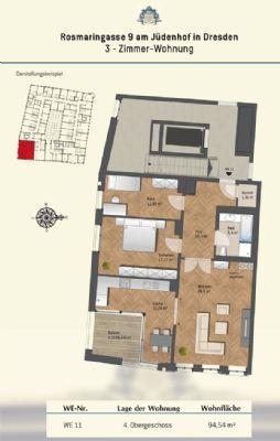 Grundriss Wohnung 11 - 2.OG und 4.OG