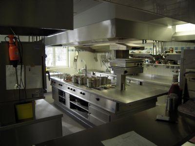 Modernster Küchenbereich