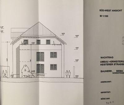 Haus Skizze, süd-west Ansicht