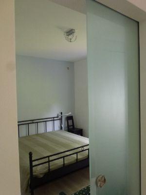 Das Schlafzimmer mit Schiebetür
