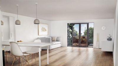 mit den baumwipfeln auf tuchf hlung lichtdurchflutete 2 zimmer wohnung am riedergarten wohnung. Black Bedroom Furniture Sets. Home Design Ideas