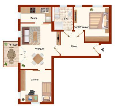 Wohnung Variante 2