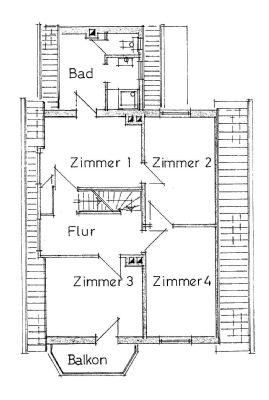 Grundriss Obergeschoss  Kleine Breite 7