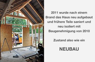 Holzbau-Ständerwerk-Neubau Rückseite