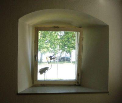 Herrlicher Ausblick aus historischen Fenstern
