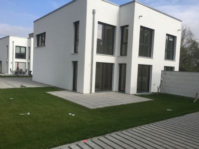 Doppelhaus Cube mit Gartenantreil  Beispiel HausB3