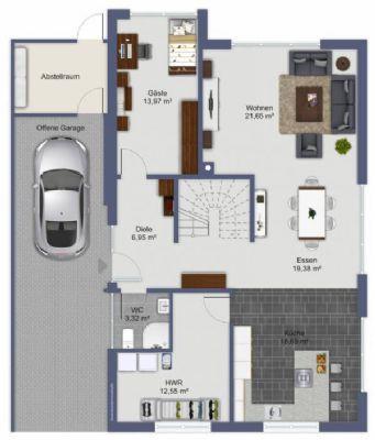 exklusives architektentraumhaus inkl grundst ck und nebenkosten in r hen f r zu. Black Bedroom Furniture Sets. Home Design Ideas