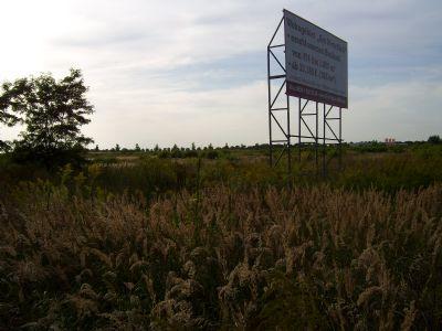 Ansicht vom Grundstück 1 an der B 179