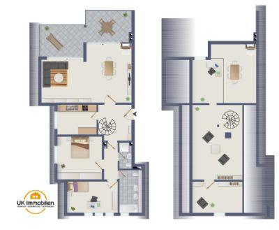 maisonette galerie wohnung mit kamin skylineblick maisonette frankfurt 2aqfa4t. Black Bedroom Furniture Sets. Home Design Ideas