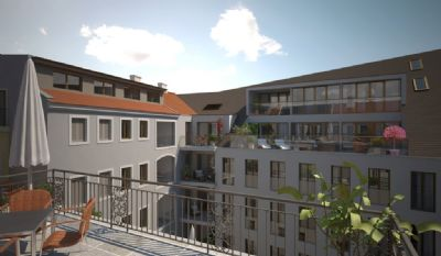Innenhof, Terrassen und Balkone