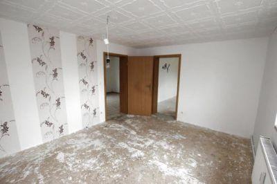 Ansicht vom Wohnzimmer einer 2-Raumwohnung