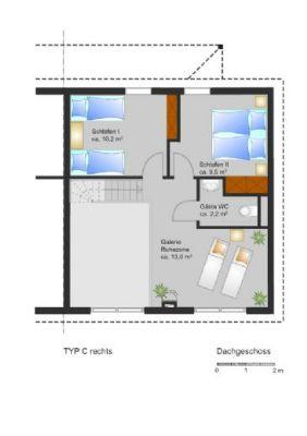 Grundriss Dachgeschoss (rechte DHH)