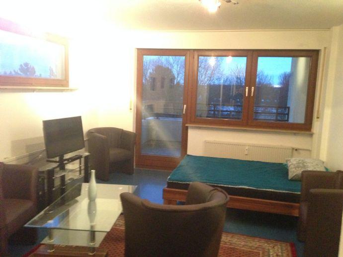 Komplett eingerichtetes Apartment mit Balkon und TG-Stellplatz, maximal an 2 Personen