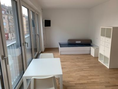 1-Zi-Apartment in zentraler Lage - vollmöbliert, hell, Erstbezug