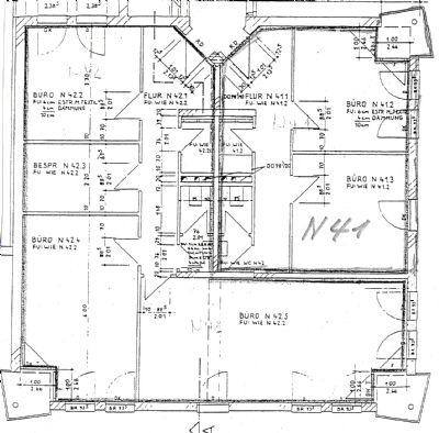 48 m² + 98 m² = 146 m² ohne Trennwand(1 Mieter)
