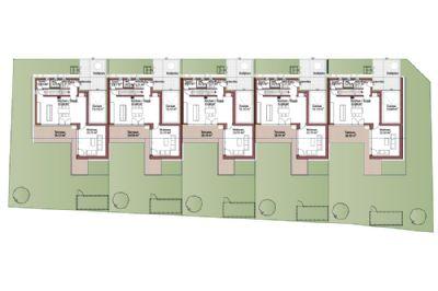 Grundrisse südliche Winkelhäuser - Übersicht