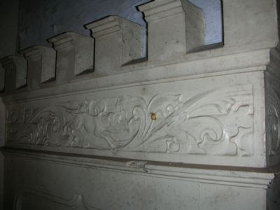 Teil der Wandvertäfelung Jagdzimmer