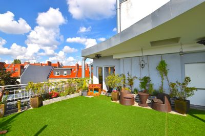 200 qm luxus penthouse wohnung 120 qm dachgarten kamin. Black Bedroom Furniture Sets. Home Design Ideas