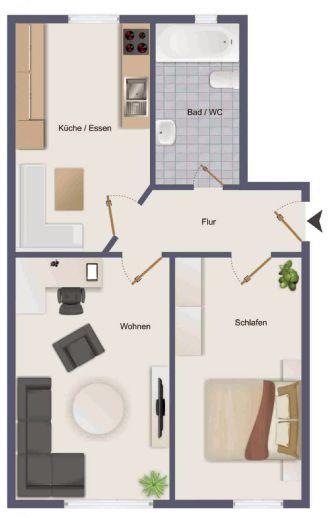 2 Zimmer Wohnung, Riedfeldstr. in Mannheim