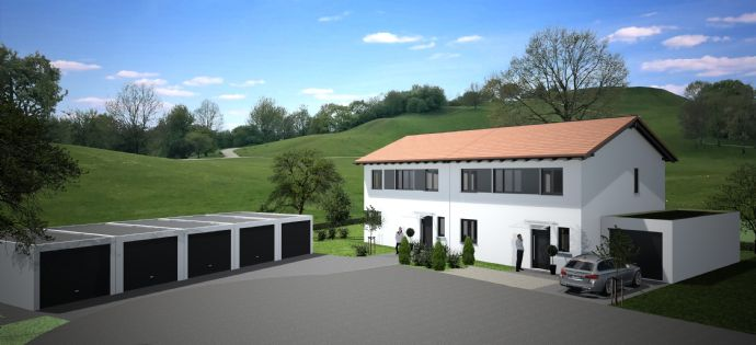 Neubau: Moderne Doppelhaushälfte mit optimaler Süd Ausrichtung in Deggendorf / OT Stauffendorf