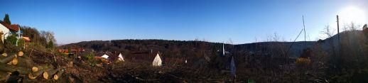 PROVISIONSFREI: Schönes Baugrundstück mit freiem Blick über den Ort und bis in die Rheinebene