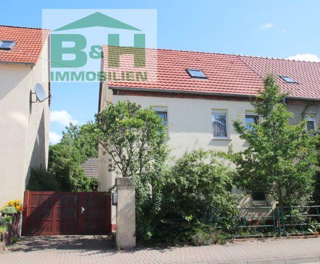 Mühlbeck Friedersdorf - Eigenheim/DHH mit Zufahrt und Garten nahe Goitzschesee