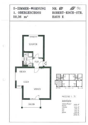 3 Zimmer Wohnung zu vermieten im Dachgeschoss