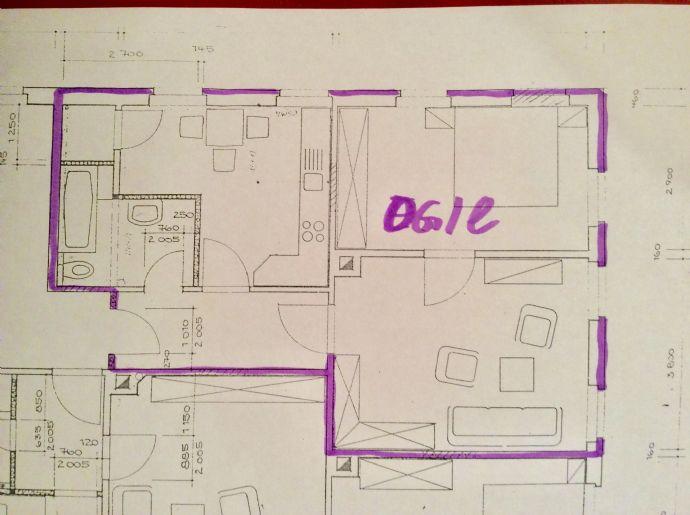 2-Zimmer-Wohnung , 1.Etage, frei ab 01.03.2020