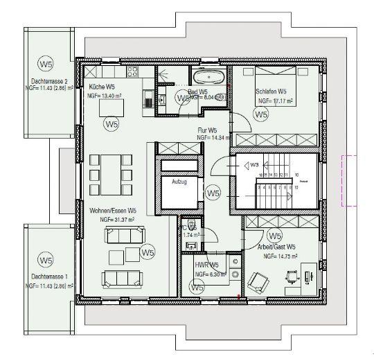 Penthouse-Wohnung in Lemförde
