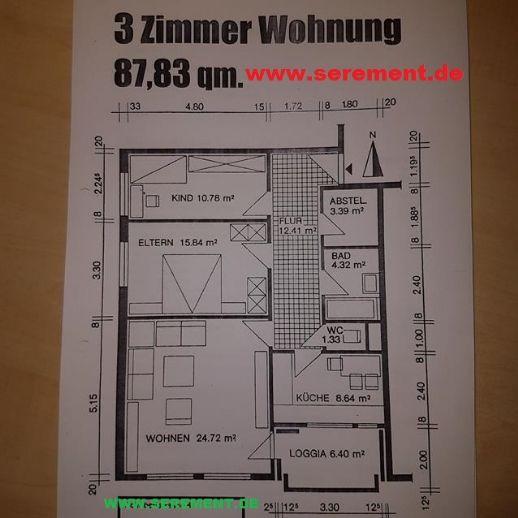 Top gepflegte 3 Zimmerwohnung mit Balkon in Neustadt zu vermieten