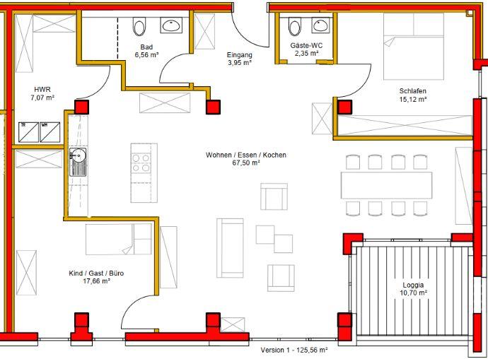 TRAUMHAFT WOHNEN - 3 Zimmer - 125 qm Wohnfläche