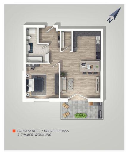 |L|I|V|I|N|G| - IN EBHAUSEN, Freundlich & modern! 2-Zimmer-Wohnung