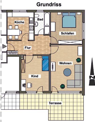 Wohnung in ruhiger Wohnlage in Schieder sofort bezugsfertig