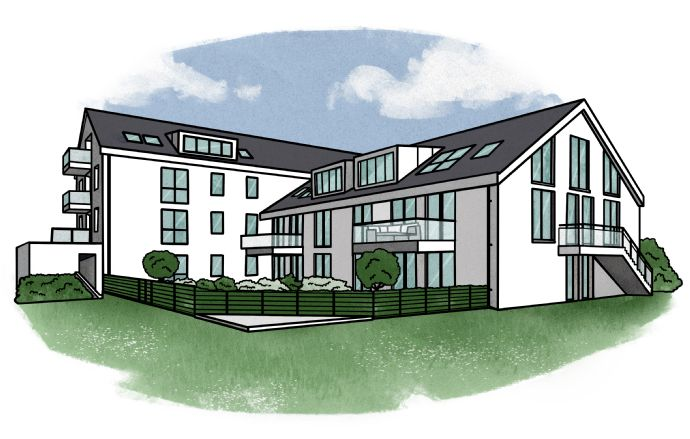 NEUBAU ! Moderne, großzügige 3-Zimmer-Wohnung direkt vom Eigentümer zu vermieten!