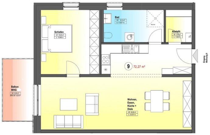 Wohnung zu kaufen in Zerf - A17484