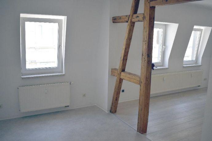 Erstbezug! Neu sanierte 4-Raum-DG-Wohnung mit Balkon in der Greizer Neustadt