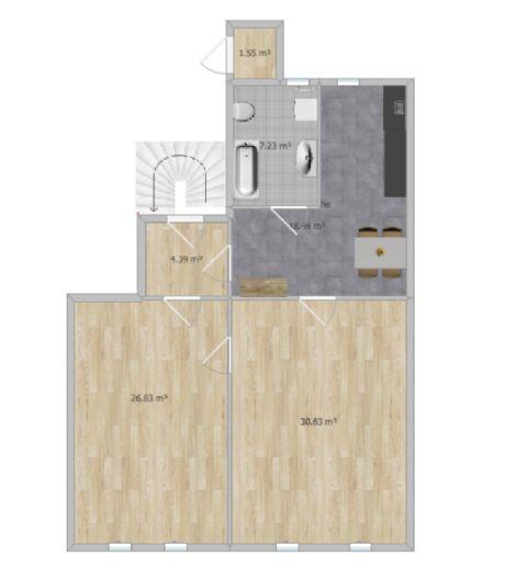 2,5 Zimmer Altbauwohnung Erstbezug nach Sanierung Kaiserviertel