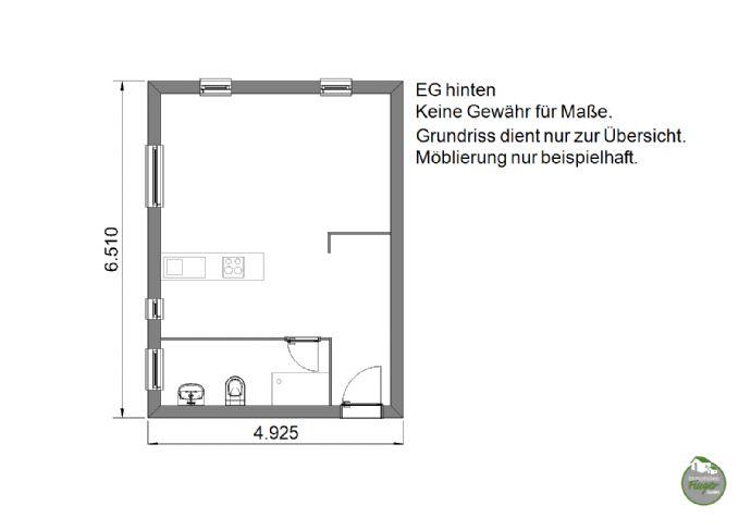 28 m² Appartement, saniert, im Erdgeschoss