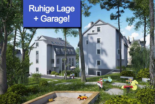 Traumhafte 2-Raum-Wohnung mit Südwest-Terrasse und Gartenanteil!