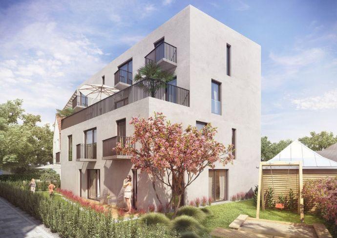 Terrassenwohnung mit Gartenanteil in Nymphenburg.  Rohbau fertiggestellt!