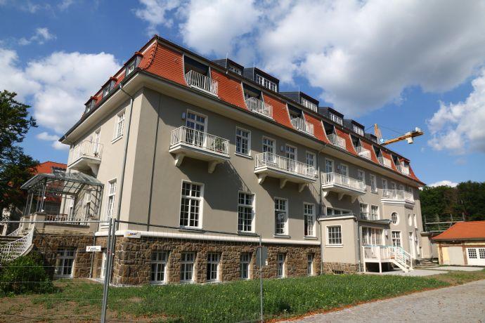 Königspark in Dresden-Wachwitz * exklusive 5,5-Zimmer-Wohnung mit großer Dachterrasse