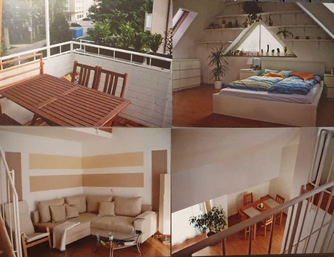 Stilvolle, gepflegte 3-Zimmer-Maisonette-Wohnung mit Balkon und Garage in Dachau