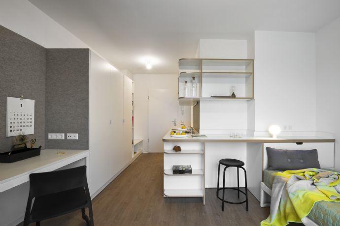 Hell, modern, möblierte 1 Zimmer Studentenwohnung STUDIO HOUSE BERLIN am Mauerpark