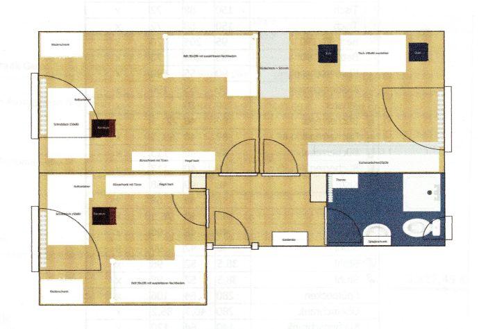 Komplett renovierte Studentenwohnung (ideal für zwei Studierende, möbliert) direkt gegenüber der FH