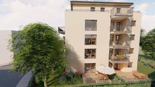 Neubau in Löbtau - moderne 3 Zimmer-Wohnung mit Terrasse und Garten