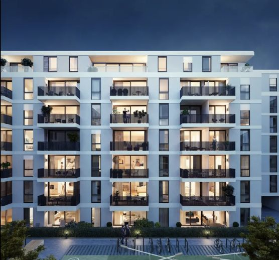 Erstbezug in Neubau:Eine schöne 2-Zimmer-Wohnung, hochwertige Küche, Balkon, Tiefgarage.