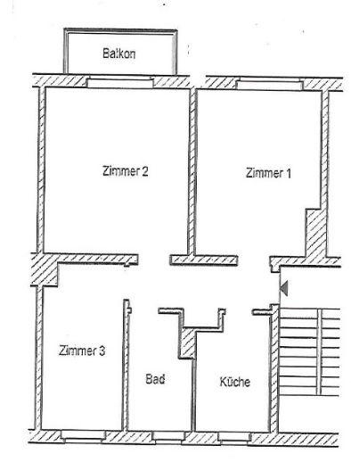3 Zimmer Wohnung in Halle (Gesundbrunnen)