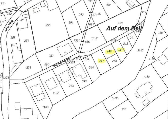 Verkauf von Grundstücken in Altena-Dahle