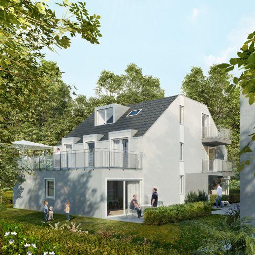 Neubau: Ruhige 2-Zimmer-Gartenwohnung mit zusätzlich 2 Souterrainräumen inkl. Duschbad